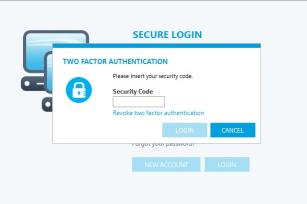 Enable and revoke two factor authentication