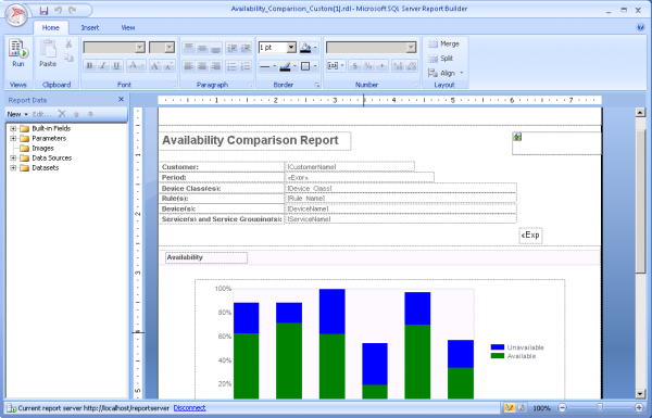 5 previewing custom reports in report builder click the icon in the top left open and navigate to the templates folder on your report server refer to templates pronofoot35fo Gallery
