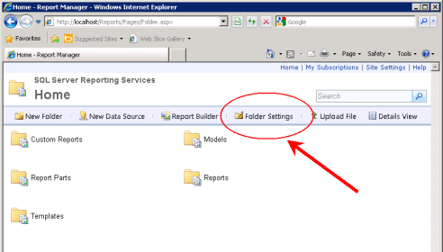 Set up credentials to use Report Builder